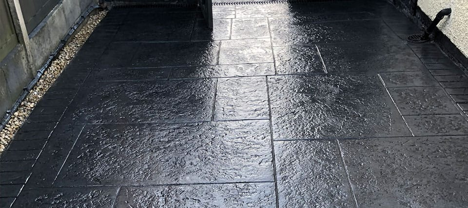 Slate Effect Imprinted Concrete